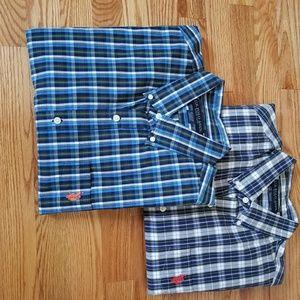 NWOT U.S Polo Assn button down plaid shirt in XL